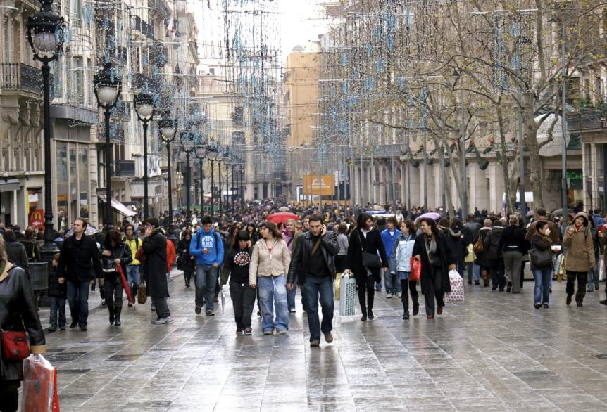 Principales zonas comerciales de Barcelona